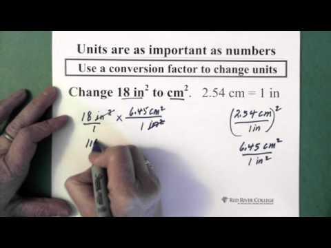 9. Conversion Factors: Changing Squared Units
