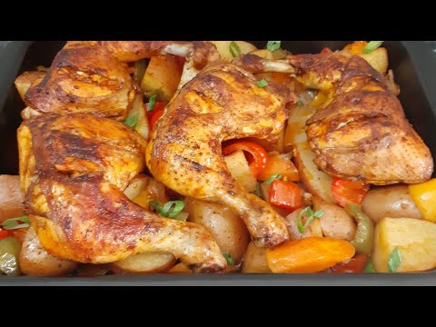 Oven Baked Chicken And Potatoes Recipe|Simply and Easy