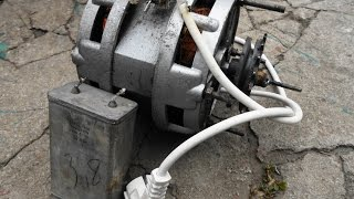 Как подключить двигатель от старой стиральной машины через конденсатор или без него(Схемы: http://progressive.at.ua/load/skhemy_podkljuchenija_dvigatelja_ot_staroj_stiralnoj_mashiny_raznye_varianty/1-1-0-3 Обязательно соблюдайте ..., 2014-09-23T11:20:32.000Z)