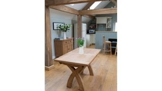 Cross Leg Extending Dining Table From Top Furniture Ltd
