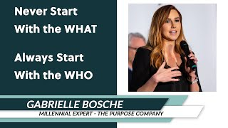 Gabrielle Bosché: Never Start with the WHAT – Always Start with the WHO
