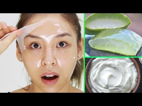 Get Clear, Glowing + Spotless Skin With Aloe Vera Gel Facial Mask | BEAUTY HACKS