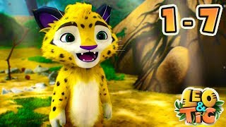 Leo and Tig - Full episodes collection (1-7) - Good Animated Movies for kids - Moolt Kids Toons
