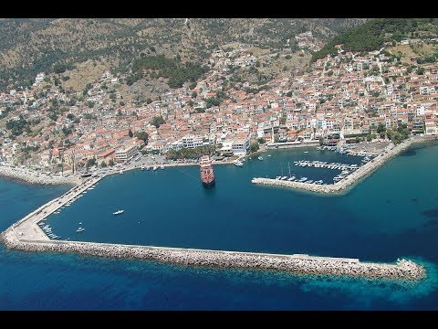 Plomari , Lesbos , beautiful port city in Greece