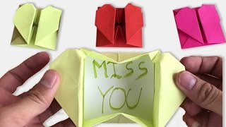 How to Make an Origami Heart Box With Secret Message Step by Step | Origami VTL