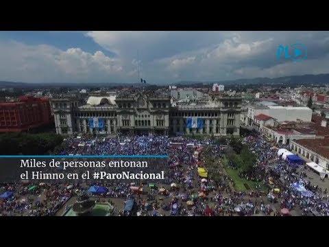 #ParoNacional | Cantan con emotividad el Himno Nacional de Guatemala | Prensa Libre