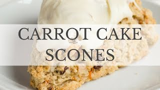 Carrot Cake Scones Recipe