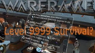 Warframe - 3day 6min lvl 9999 enemy survival alert