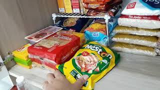 #rotinadedonadecasa Arrumando as compras na dispensa | Preparando almoço da semana!!