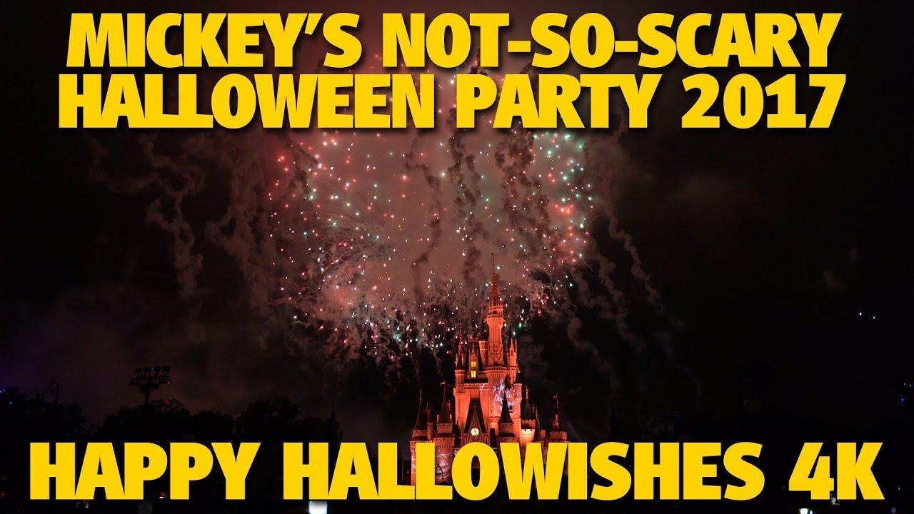 happy hallowishes 2017 | mickey's not-so-scary halloween party - youtube