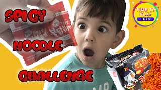 Dad Tries Spicy Noodle Challenge - Time To Play Toys