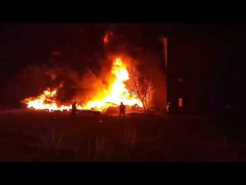 Пожежа на Закарпатті. Біля Обави 20.12.2019