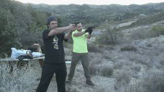 target practice glock 23 and h usp 45 pistols jan 09