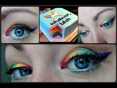 Birthday Makeup {Maquillage Licorne}