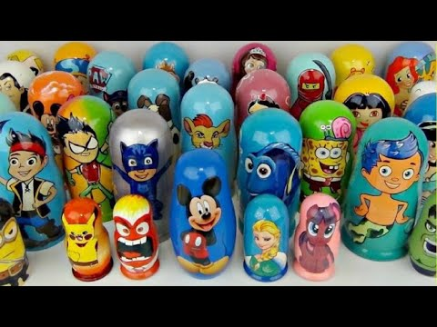 Opening My Collection of Lots of Nesting dolls or Stacking Cups