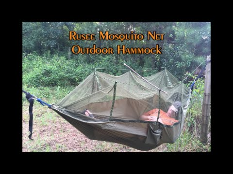 Medium image of rusee camping hammock with mosquito
