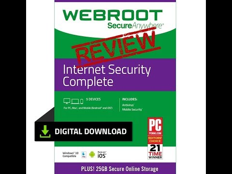 Webroot Antivirus Protection Internet Security Complete Review and Discount