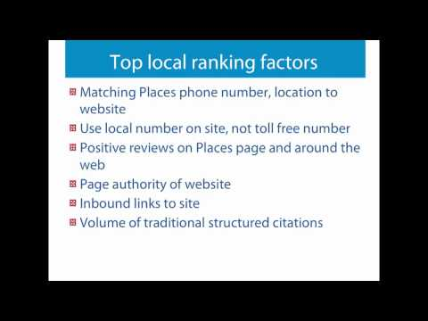How to Use Local Search to Grow Your Business - National Positions Webinar - Sept 21, 2011