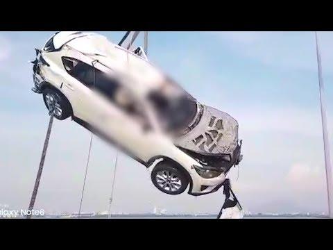 Penang Bridge crash: SUV hauled up from seabed