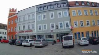 D: Kreisstadt Cham. Landkreis Cham. Fahrt durch die Stadt. Februar 2017