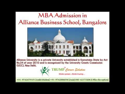 MBA Admission in Alliance Business School [Alliance University, Bangalore]