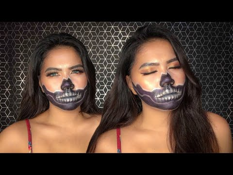 RECREATING JAMES CHARLES and KYLIE JENNER MAKEUP   HALLOWEEN NO. 007   SKULL MASK by Donna Garcia