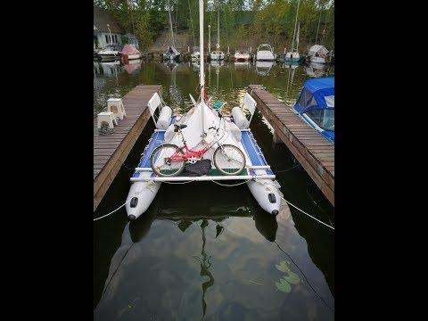 024 Обзор парусного катамарана СибКат-18С // An overview of the SibCat-18S sailing catamaran