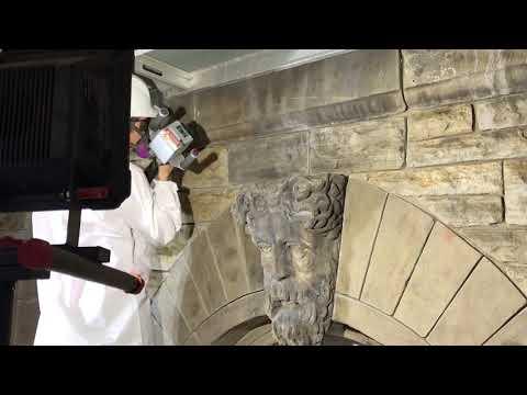 LaserArt 100- Cleaning Berea Stone