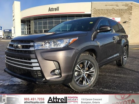2017 Toyota Highlander Awd Le Convenience Package Brampton On Attrell