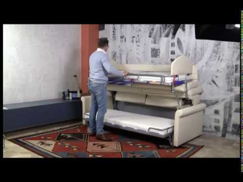 Divano letto Castello - Sofa Bunk bed - YouTube