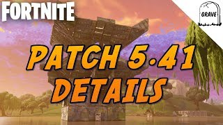(PS4) Fortnite New Patch 5.41 (Patch Note Details)