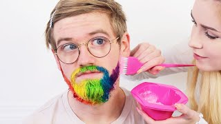 Download Dying My Brothers Beard Rainbow *BAD IDEA turned good?!*..Brad Mondo pls don't watch this !! Mp3 and Videos