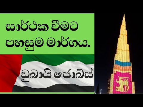 HOW YOU CAN FIND A JOB IN DUBAI 🇦🇪(SINHALA)