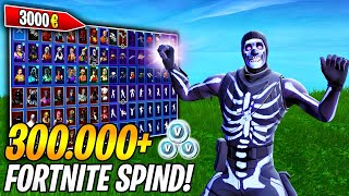 MY 3000€ FORTNITE SPIND! 😱💰 (300,000+ V-BUCKS) | All skins, pickaxes, gliders, emotes! 🔥