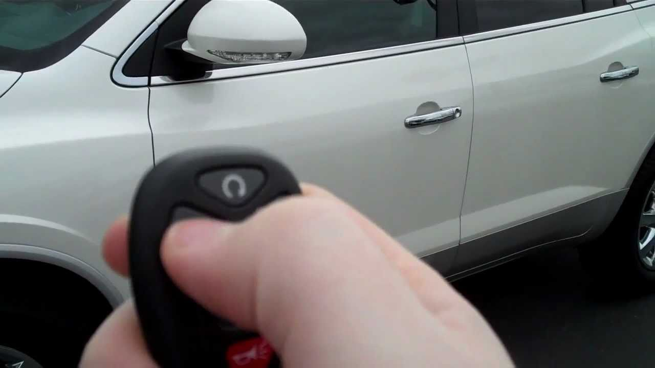 How To Use Remote Start >> How To Use The Remote Start On The 2011 Buick Enlcave Art Gamblin Motors