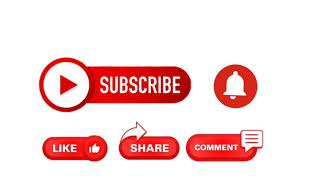 Subscribe, Like and Bell Button with Sound effect