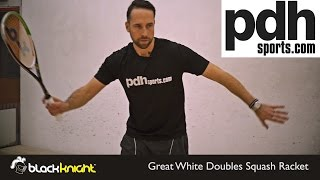 The New Black Knight Great White Squash rackets reviewed by PDHSports.com