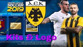 How To Create AEK F.C Team Kits & Logo 2019 | Dream League Soccer 2019