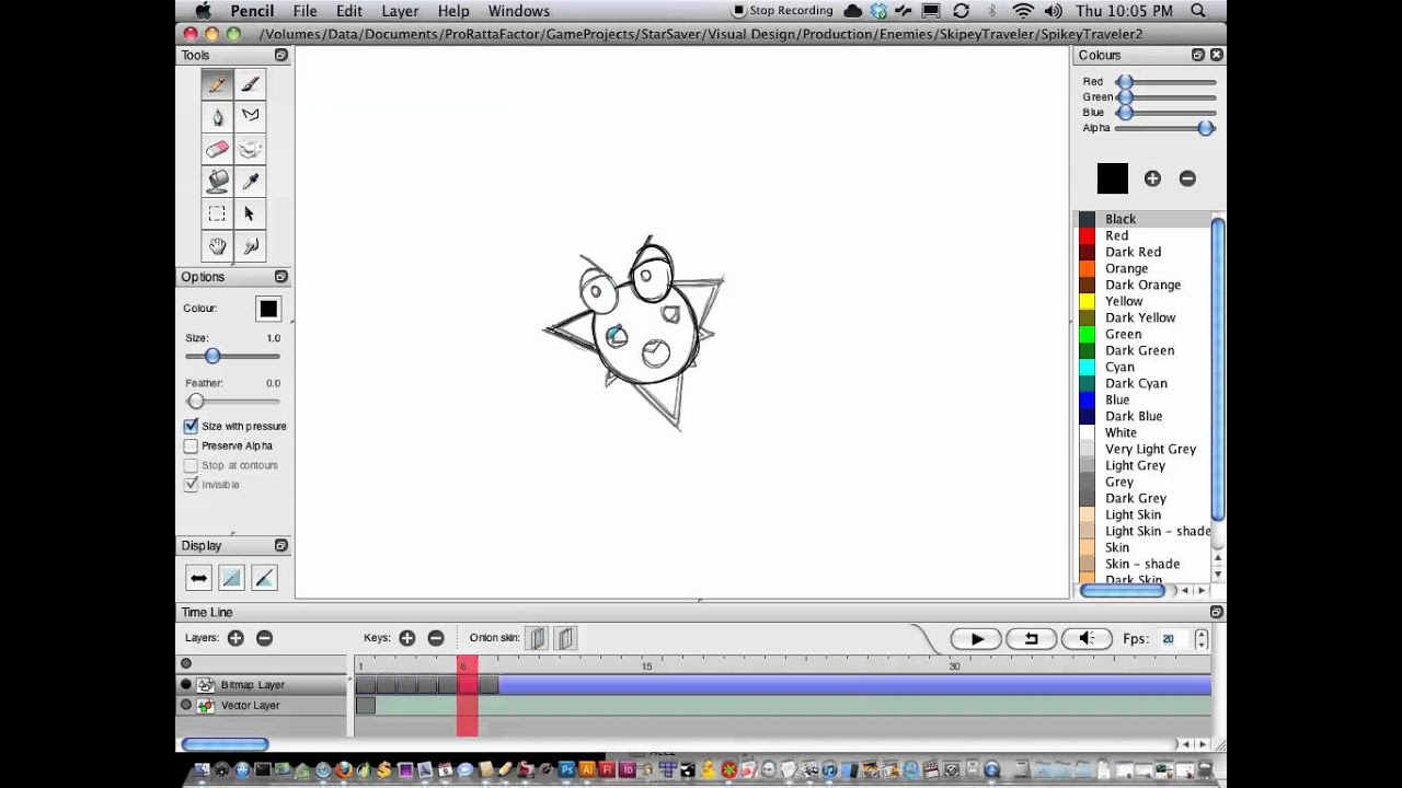 how to use pencil 2d animation