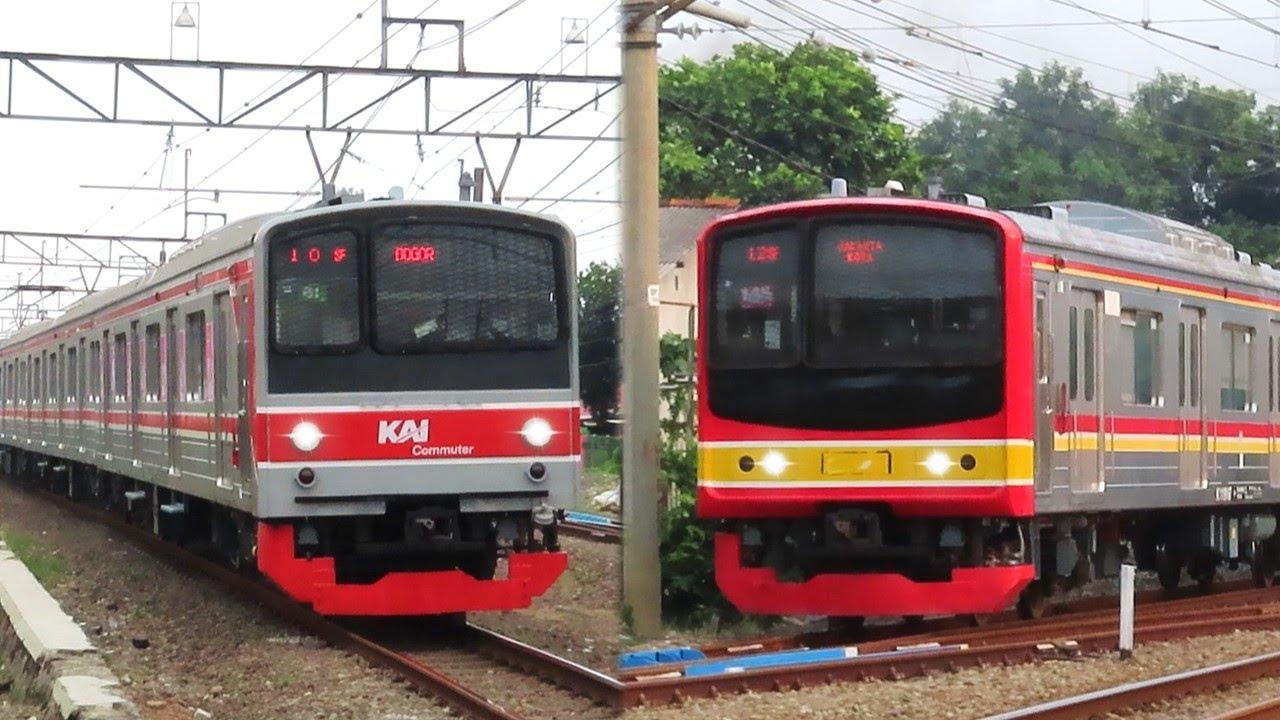 Nonton Kereta Api KRL di Stasiun Depok pada Sore Hari, Rame Bangett~