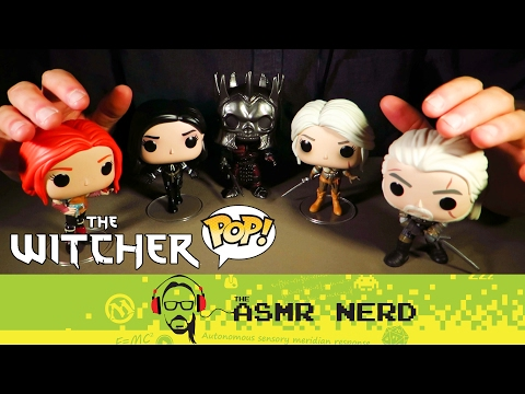 ASMR Whisper: NEW MICROPHONES! Unboxing Witcher 3 Funko Pops
