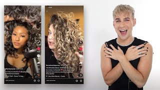Hairdresser Reacts To Curly Girls Using Wavetech!