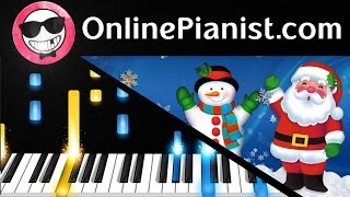 Christmas Song - Frosty The Snowman - Piano Tutorial Easy & Sheets - How to Play