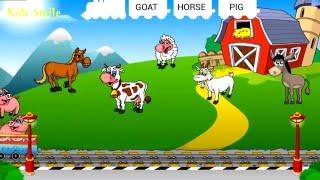 Английский для детей. Учим животных и цвета вместе с паровозиком