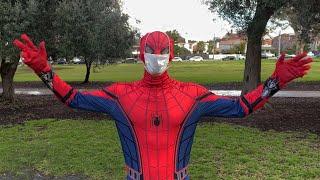 Jogging Spider-Man speaks