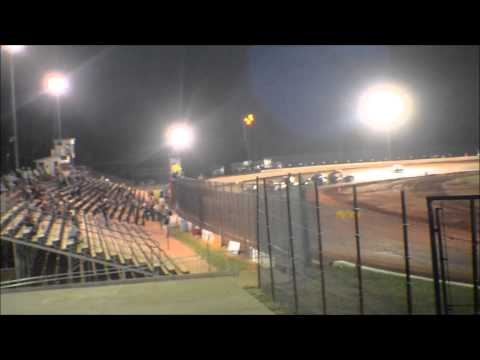 12 year old jordan fowler golden isles speedway feature race 6-13-15