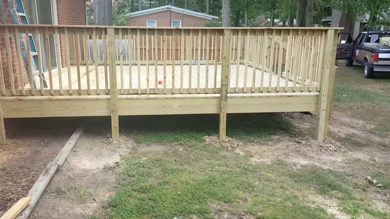 16 39 x16 39 deck youtube for 10 x 14 deck plans