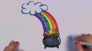How to Draw a Pot of Gold for St. Patrick