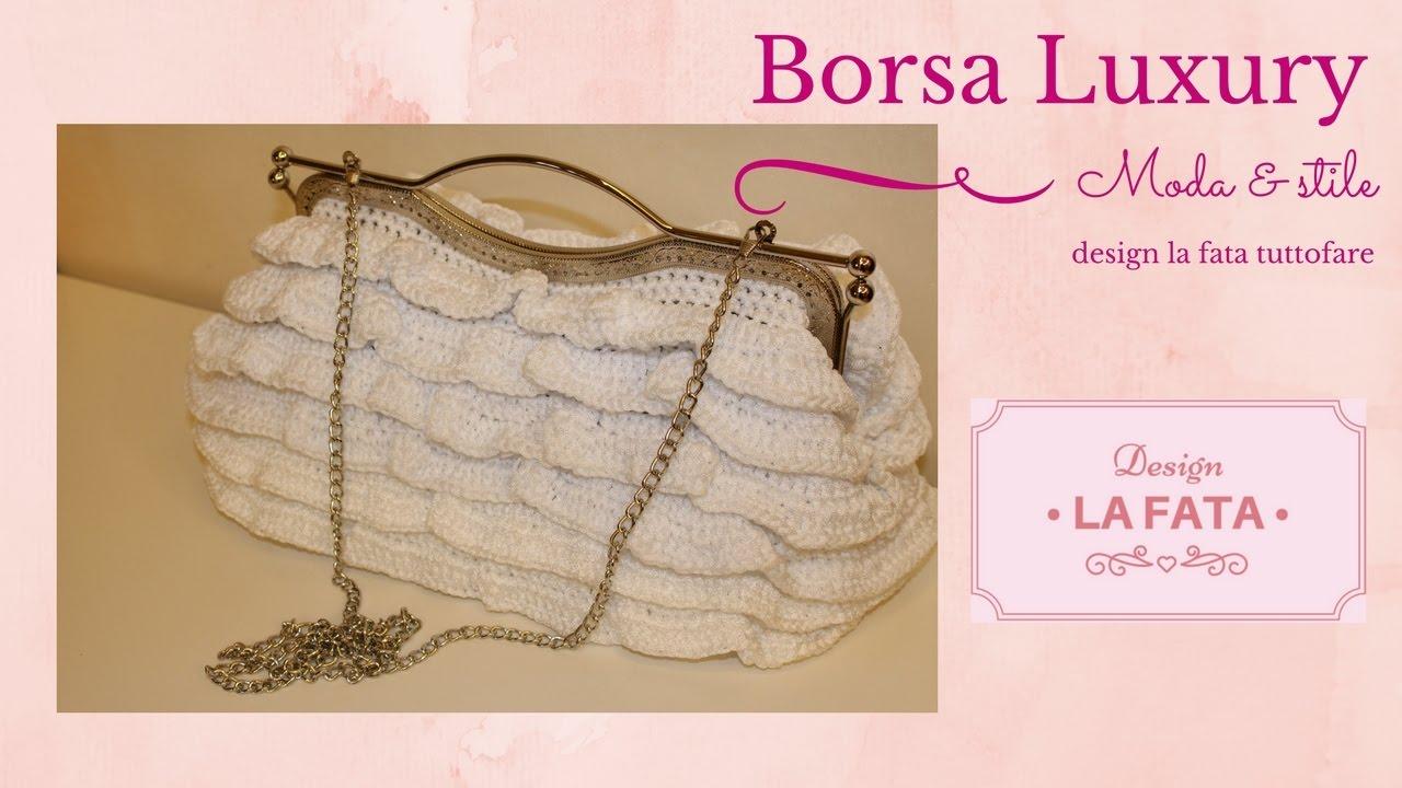 Tutorial borsa luxury borsa uncinetto lafatatuttofare for Schemi borse uncinetto