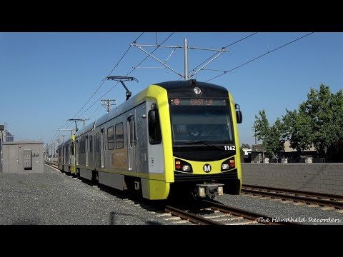 Gold Line Action In The City Of Duarte And Monrovia 4K